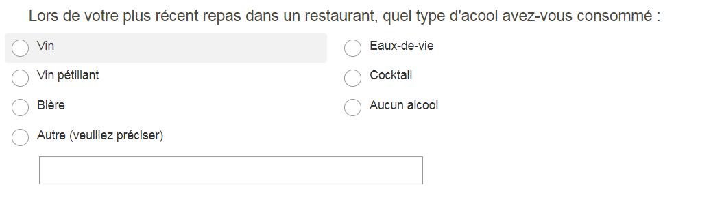 Exemple question à choix multiple